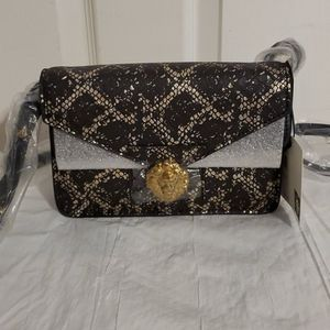 Anne Klein Real Leather Snakeskin print Purse